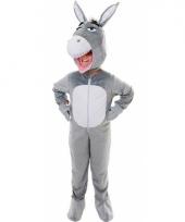 Pluche ezel outfit voor kinderen
