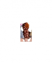 Pluche giraffe vingerpoppen 8 cm