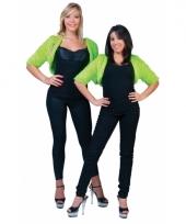 Pluche groen jasje voor dames