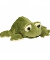 Pluche groene knuffel kikker 13 cm