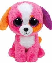 Pluche hond puppy knuffels precious ty beanie 24 cm