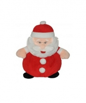 Pluche kerstmannen knuffel 25 cm