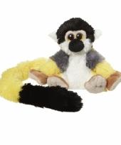Pluche knuffel gele eekhoorn aap 16 cm