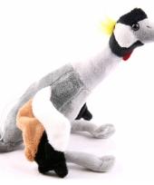 Pluche knuffel kraanvogel 30 cm