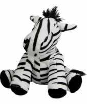 Pluche knuffeldier zebra 19 cm