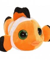 Pluche knuffeltje clownsvisje oranje 13 cm