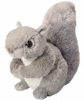 Pluche knuffeltje eekhoorn grijs 20 cm