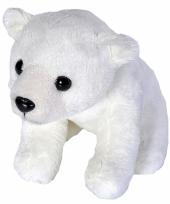 Pluche knuffeltje ijsbeer wit 15 cm