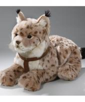 Pluche liggende lynx knuffel 42 cm