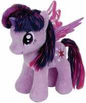 Pluche little pony knuffel twilight sparkle 24 cm