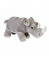 Pluche neushoorns knuffeldier 33 cm