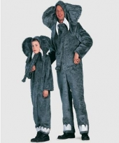 Pluche olifanten kostuum voor kids