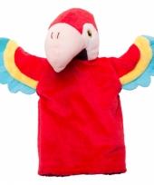 Pluche papegaai handpop 22 cm