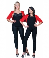 Pluche rood jasje voor dames