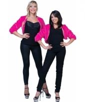 Pluche roze jasje voor dames 10080254