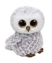 Pluche sneeuw uil knuffels owlette ty beanie 24 cm