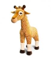 Pluche staande giraffe knuffeldier 100cm