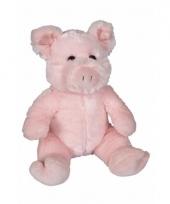 Pluche varken zittend knuffeldier van 21cm