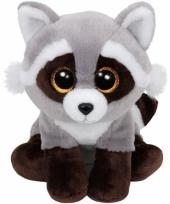 Pluche wasbeer knuffels bandit ty beanie 24 cm