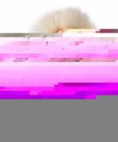 Pluche witte leeuw zittend knuffeldier van 15cm
