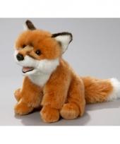 Pluche zittende vos knuffel 21 cm