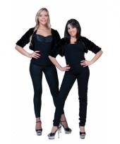 Pluche zwart jasje voor dames