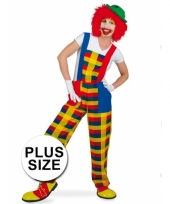 Plus size clown pebbi carnavalskostuum