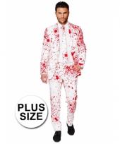 Plus size compleet kostuum met bloedspatten