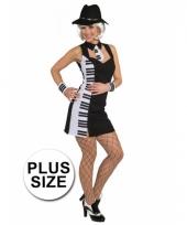 Plus size piano jurkje voor dames