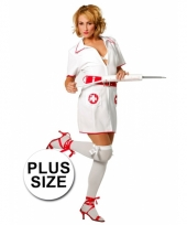 Plus size verpleegster carnavalskleding