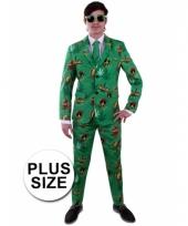 Plus sizr luxe kostuum voor heren rasta