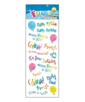 Poezie album stickers happy birthdays