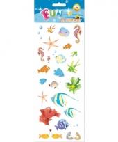 Poezie album stickers tropische zeedieren