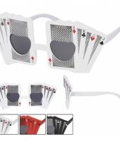 Pokerbril wit voor volwassenen