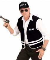 Politie accessoires set hesje en pet