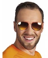 Politie brillen oranje spiegelglas