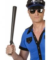 Politie knuppel zwart plastic
