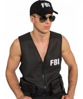 Politie verkleedaccessoire pet zwart