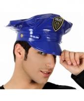 Politieagenten pet blauw voor volwassenen