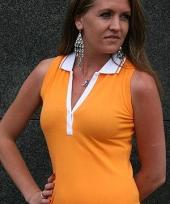 Polo shirt voor dames zonder mouwen