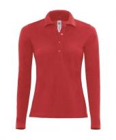 Poloshirt voor dames in de kleur rood