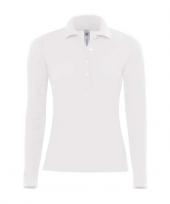 Poloshirt voor dames in de kleur wit