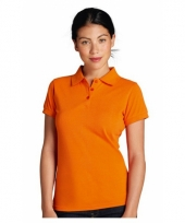 Poloshirts dames in oranje