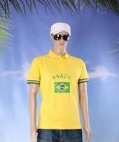 Poloshits met brazilie vlag
