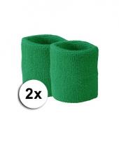 Pols zweetbandjes pakket groen