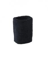 Pols zweetbandjes zwart