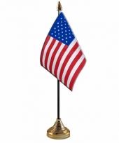 Polyester amerikaanse us vlag voor op bureau 10 x 15 cm