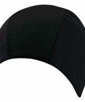 Polyester badmuts zwart voor volwassenen