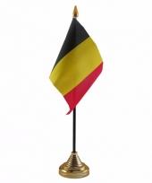 Polyester belgische vlag voor op bureau 10 x 15 cm