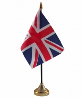 Polyester britse vlag voor op bureau 10 x 15 cm